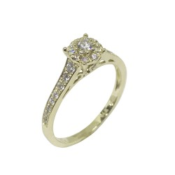 Gold Diamond Ring 0.4 CT. T.W. Model Number : 1114