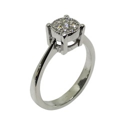 Gold Diamond Ring 0.17 CT. T.W. Model Number : 2455