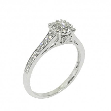 Gold Diamond Ring 0.4 CT. T.W. Model Number : 1110