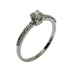 Gold Diamond Ring 0.41 CT. T.W. Model Number : 2496