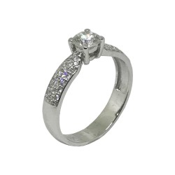 Gold Diamond Ring 0.7 CT. T.W. Model Number : 821
