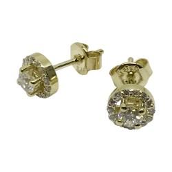 Gold Diamond EarRings 0.47 CT. T.W. Model Number : 2511