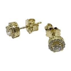 Gold Diamond EarRings 0.56 CT. T.W. Model Number : 2512