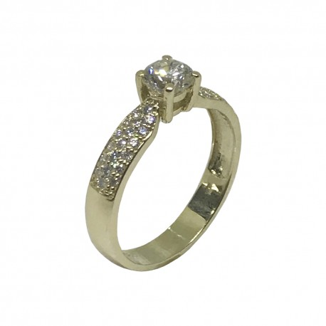 Gold Diamond Ring 0.79 CT. T.W. Model Number : 858