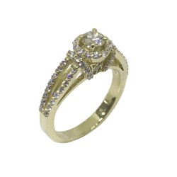 Gold Diamond Ring 0.98 CT. T.W. Model Number : 871