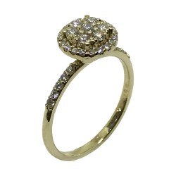 Gold Diamond Ring 0.54 CT. T.W. Model Number : 2541