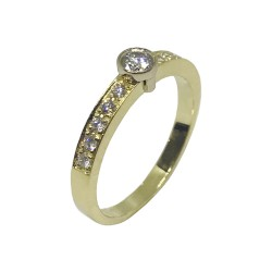 Gold Diamond Ring 0.34 CT. T.W. Model Number : 976