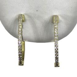 Gold Diamond EarRings 0.46 CT. T.W. Model Number : 2567
