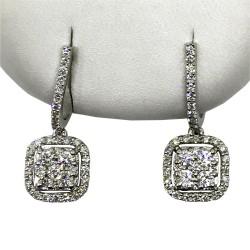 Gold Diamond EarRings 1.02 CT. T.W. Model Number : 2575