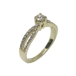Gold Diamond Ring 0.5 CT. T.W. Model Number : 984