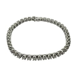 Gold Diamond Bracelet 3.74 CT. T.W. Model Number : 2593