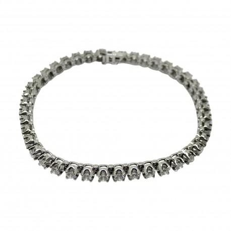 Gold Diamond Bracelet 3.74 CT. T.W. Model Number : 2593