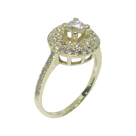 Gold Diamond Ring 0.62 CT. T.W. Model Number : 990