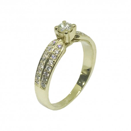 Gold Diamond Ring 0.45 CT. T.W. Model Number : 992