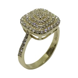 Gold Diamond Ring 0.65 CT. T.W. Model Number : 2626