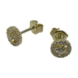 Gold Diamond EarRings 0.39 CT. T.W. Model Number : 2641