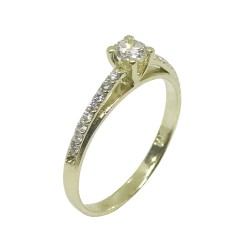 Gold Diamond Ring 0.34 CT. T.W. Model Number : 1100