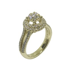 Gold Diamond Ring 0.62 CT. T.W. Model Number : 1148