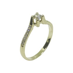Gold Diamond Ring 0.28 CT. T.W. Model Number : 1165