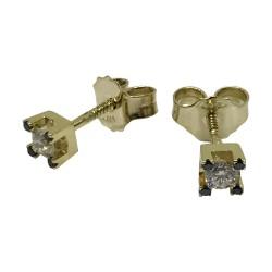 Gold Diamond EarRings 0.26 CT. T.W. Model Number : 2689