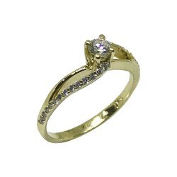 Gold Diamond Ring 0.35 CT. T.W. Model Number : 445