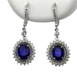 Gold Diamond EarRings 5.58 CT. T.W. Model Number : 2718