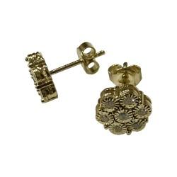 Gold Diamond EarRings 0.26 CT. T.W. Model Number : 2728