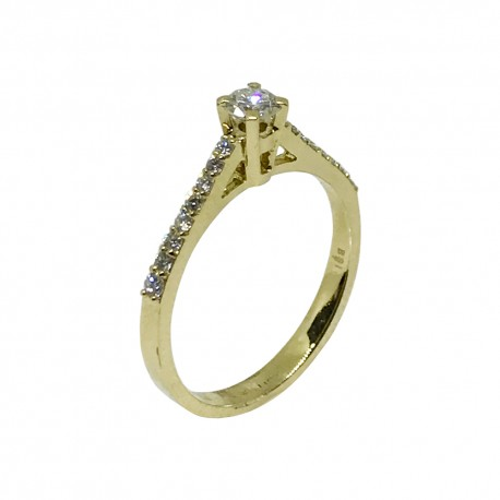 Gold Diamond Ring 0.42 CT. T.W. Model Number : 447
