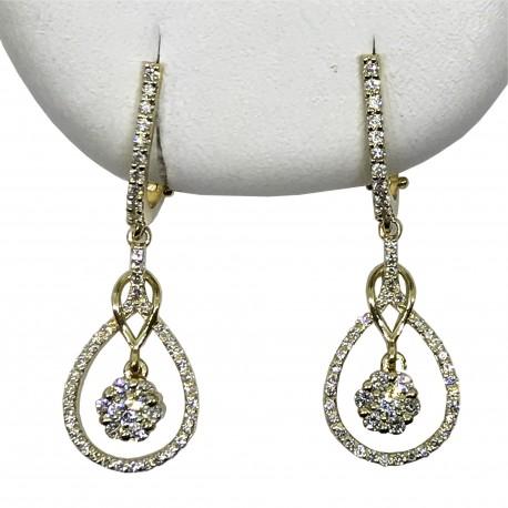 Gold Diamond EarRings 0.65 CT. T.W. Model Number : 2745