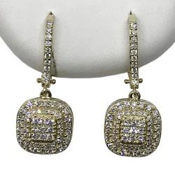 Gold Diamond EarRings 1 CT. T.W. Model Number : 2747