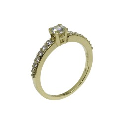Gold Diamond Ring 0.57 CT. T.W. Model Number : 448