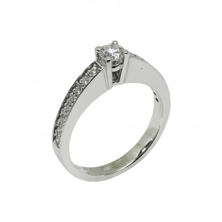 Gold Diamond Ring 0.54 CT. T.W. Model Number : 449