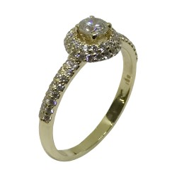 Gold Diamond Ring 0.59 CT. T.W. Model Number : 2776