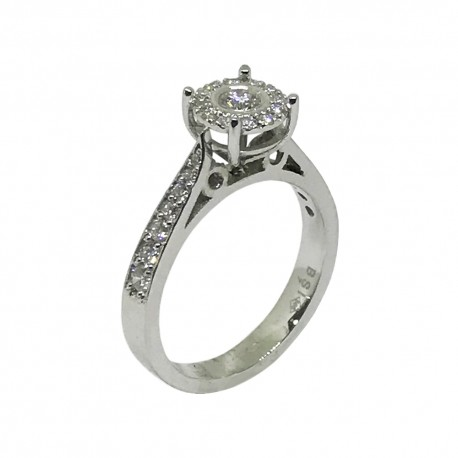Gold Diamond Ring 0.49 CT. T.W. Model Number : 542