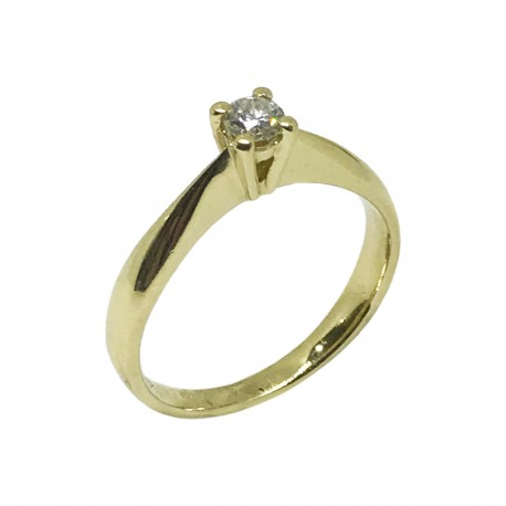 Gold Diamond Ring 0.19 CT. T.W. Model Number : 549
