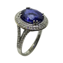 Gold Diamond Ring 6.27 CT. T.W. Model Number : 2854