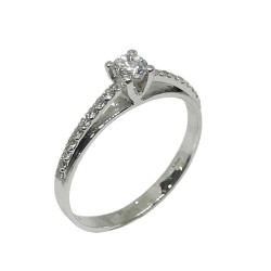 Gold Diamond Ring 0.34 CT. T.W. Model Number : 550