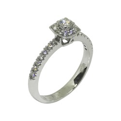 Gold Diamond Ring 0.42 CT. T.W. Model Number : 552