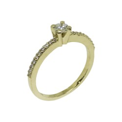 Gold Diamond Ring 0.33 CT. T.W. Model Number : 553