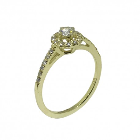 Gold Diamond Ring 0.3 CT. T.W. Model Number : 554