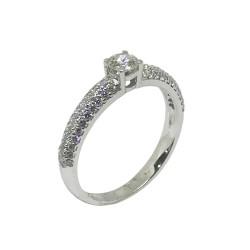 טבעת זהב משובצת 67 יהלומים במשקל 0.73 קרט דגם : 629