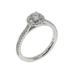 טבעת זהב משובצת 39 יהלומים במשקל 0.78 קרט דגם : 632