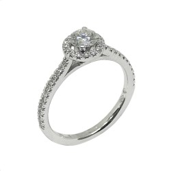 Gold Diamond Ring 0.78 CT. T.W. Model Number : 632