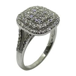 טבעת זהב משובצת 95 יהלומים במשקל 1.07 קרט דגם : 2963