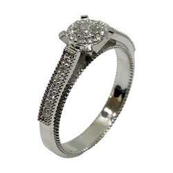 Gold Diamond Ring 0.29 CT. T.W. Model Number : 2976