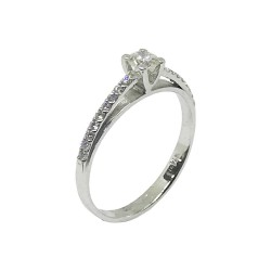 Gold Diamond Ring 0.33 CT. T.W. Model Number : 676