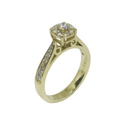 Gold Diamond Ring 0.56 CT. T.W. Model Number : 690