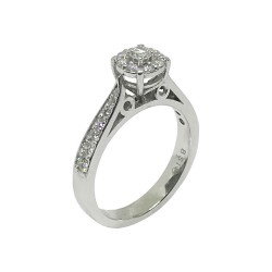 Gold Diamond Ring 0.56 CT. T.W. Model Number : 691