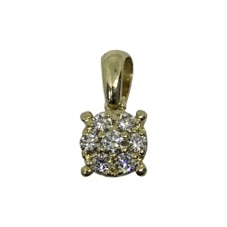 Gold Diamond Pendant 0.21 CT. T.W. Model Number : 3024