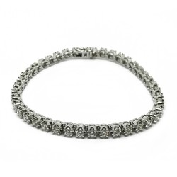 Gold Diamond Bracelet 3.96 CT. T.W. Model Number : 3032